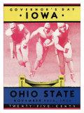 Ohio State vs. Iowa, 1934 Giclée-tryk