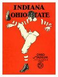 Ohio State vs. Indiana, 1924 Giclée-tryk