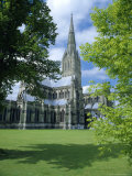 Salisbury Cathedral (Tallest Spire in England), Wiltshire, England Photographic Print by Christopher Nicholson