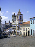 Salvador, the Pelourinho District at Largo Do Pelourinho, Bahia State, Brazil, South America Photographic Print by Geoff Renner