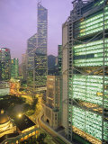 Central from Princes Building, Legco Bank of China, Hk Bank, Hong Kong, China, Asia Photographic Print by Tim Hall