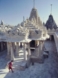The Abode of the Gods, Shatrunjaya Hill, Palitana, Gujarat, India Photographic Print by John Henry Claude Wilson