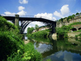 Iron Bridge Over the River Severn, Ironbridge, Shropshire, England, UK Photographic Print by Peter Scholey