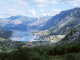 Fjord and Town of Kotor, the Old Town is a Unesco World Heritage Site, Northern Montenegro, Europe Photographic Print by Richard Ashworth