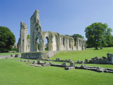 The Ruins of Glastonbury Abbey, Glastonbury, Somerset, England, UK Photographic Print by Christopher Nicholson