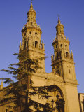 Cathedral Spries, 18th Century, Logrono, La Rioja, Castile and Leon, Spain, Europe Photographic Print by Ken Gillham