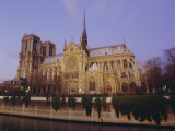 Notre Dame Cathedral by the River Seine, Paris, France, Europe Photographic Print by Peter Scholey