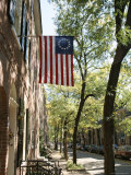 Historic Flag, Society Hill, Philadelphia, Pennsylvania, USA Photographic Print by Ken Gillham