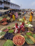 Fruit and Vegetable Sellers in the Street, Dhariyawad, Rajasthan State, India Photographic Print by Robert Harding
