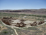 Pueblo Bonito from 1000-1100 AD, Anasazi Site, Chaco Canyon National Monument, New Mexico, USA Photographic Print by Walter Rawlings