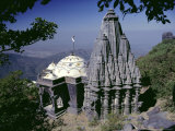 Jain Holy Hill and Temple Complex, Mount Girnar, Junagadh (Junagarh), Gujarat, India Photographic Print by John Henry Claude Wilson
