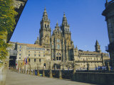 Cathedral, Santiago De Compostela, Galicia, Spain, Europe Photographic Print by Peter Scholey