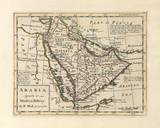 Arabia, Agreeable To Modern History Premium Giclee Print by H. Moll