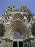 West Front, Reims Cathedral, Unesco World Heritage Site, Champagne, France, Europe Photographic Print by Walter Rawlings