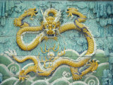 Nine Dragon Wall, Forbidden City, Beijing, China, Asia Photographic Print by Gina Corrigan