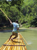 Rafting on the Martha Brae River, Jamaica, Caribbean, West Indies Photographic Print by Robert Harding