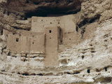 Montezuma Castle Dating from 1100-1400 Ad in Limestone Cliff, Sinagua, Arizona, USA Photographic Print by Walter Rawlings