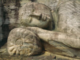 Statue of the Reclining Buddha, Attaining Nirvana, Gal Vihara, Polonnaruwa, Sri Lanka Photographic Print by Robert Harding