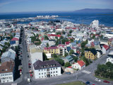 View Over the City, Reykjavik, Iceland, Polar Regions Photographic Print by David Lomax