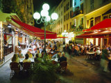 Open Air Cafes and Restaurants, Nice, Cote d'Azure, Provence, France, Europe Photographic Print by Walter Rawlings