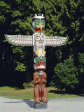 Totem in Stanley Park, Vancouver, British Columbia, Canada Photographic Print by Robert Harding