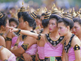 Annual Loy Krathong Festival in Sukhothai, Thailand Photographic Print by Alain Evrard