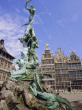 Brabo Statue, Antwerp, Belgium Photographic Print by Ken Gillham