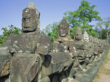 Angkor Thom, Angkor, Siem Reap, Cambodia, Indochina, Asia Photographic Print by Tim Hall