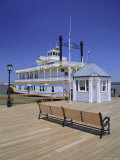 Paddle Steamer and Dock Master's Office, Alexandria, Virginia, USA Photographic Print by Jonathan Hodson