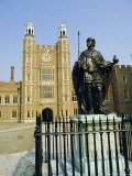 Statue of Henry VI and Lupton's Tower, Eton College, Berkshire, England Photographic Print by Richard Ashworth