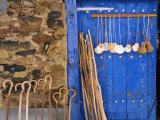 El Camino Pilgrimage to Santiago De Compostela, Scallop Shells and Walking Sticks, Galicia, Spain Photographic Print by Ken Gillham