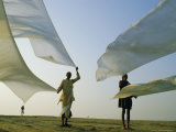 Dhotis, the National Male Dress, Drying in the Dawn Breeze, India, Asia Photographic Print by John Henry Claude Wilson
