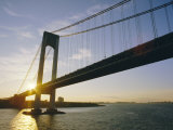 Verrazano Narrows Bridge, Approach to the City, New York, New York State, USA Photographic Print by Ken Gillham