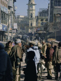 Street Scene in the Bazaar, Peshawar, North West Frontier Province, Pakistan, Asia Photographic Print by Robert Harding