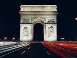 Arc De Triomphe at Night, Paris, France, Europe Photographic Print by Walter Rawlings