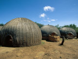 A Zulu Dwelling, South Africa Photographic Print by Alan Evrard