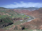 Yellow River (Hwang-Ho), Eastern Qinghai, China, Asia Photographic Print by Occidor Ltd