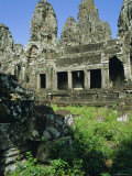 The Bayon Temple Complex, Angkor, Siem Reap, Cambodia Photographic Print by Tim Hall