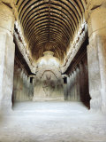 Buddhist Chaitya Hall in Cave 10, Ellora, India Photographic Print by Richard Ashworth