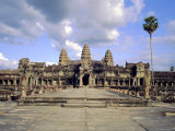 The Temple of Angkor Wat, Angkor, Siem Reap, Cambodia Photographic Print by Tim Hall