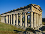 The Greek Doric Temple of Segesta, Near Calatafimi, Sicily, Italy, Europe Photographic Print by Michael Newton
