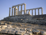 Temple of Poseidon, 5th Century, Sounion, Cape Sounion, Greece, Europe Photographic Print by Desmond Harney