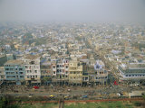 View of City from Jama Masjid Across Old Delhi, Delhi, India, Asia Photographic Print by Richard Ashworth