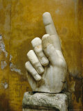 Hand from Colossus Statue, Emperor Constantine, Rome, Lazio, Italy, Europe Photographic Print by Peter Scholey