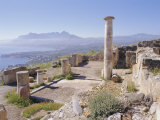 Ruins of Solunto (Foreground), Coastline East of Palermo (Background), Sicily, Italy Photographic Print by Richard Ashworth