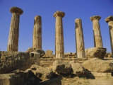 Temple of Hercules (Circa 500 BC), Agrigento, Sicily, Italy Photographic Print by Richard Ashworth