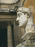 Head from Colossus Statue, Emperor Constantine, Rome, Lazio, Italy, Europe Photographic Print by Peter Scholey