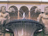 Fountain in the Gardens of the Palazzo Farnese, Caprarola, Lazio, Italy, Europe Photographic Print by Michael Newton