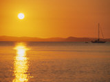 View to Mainland from Monkey Beach at Sunset, Great Keppel Island, Queensland, Australia Photographic Print by Ken Gillham