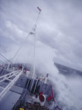 Ship in Rough Seas, Antarctic Ocean, Antarctica Photographic Print by Geoff Renner